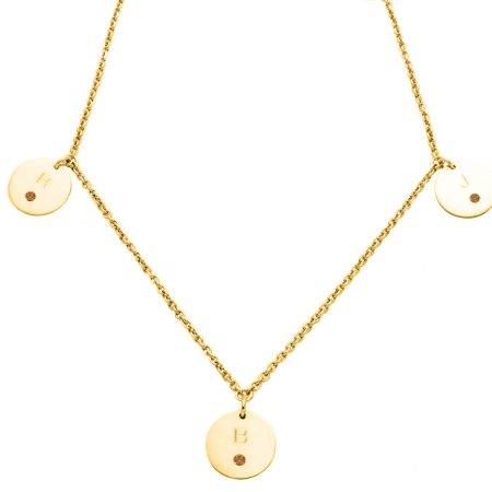 necklace_gold_3circle_diamonds_marron-kopie