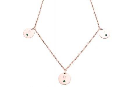 necklace_pinkgold_3circles_diamonds_esmeralda-kopie