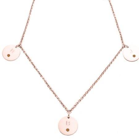 necklace_pinkgold_3circles_diamonds_marron-kopie